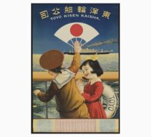 Vintage travel poster Japan Kids Tee
