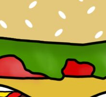 All Digital Cheeseburger Sticker