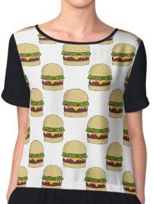 All Digital Cheeseburger Chiffon Top