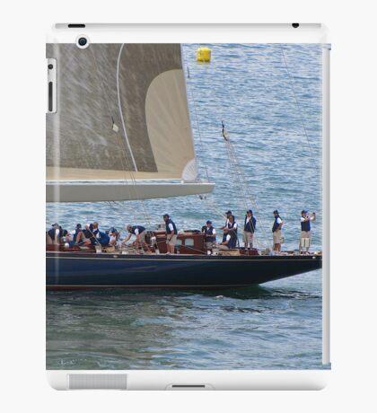 Working crew on the J class yachts iPad Case/Skin