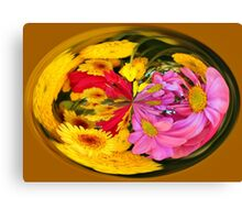 Flowers In A Bubble Canvas Print