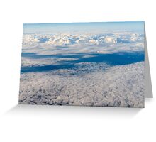 Aerial View Of Planet Earth As Seen From 40.000 Feet Altitude Greeting Card