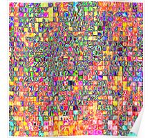 Neon Abstract Pattern Poster