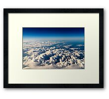 Aerial View Of Planet Earth As Seen From 40.000 Feet Altitude Framed Print