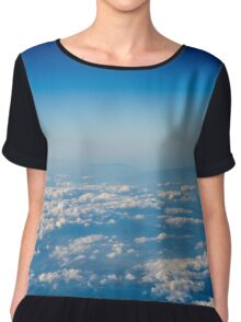 Aerial View Of Planet Earth As Seen From 40.000 Feet Altitude Chiffon Top