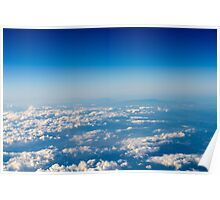 Aerial View Of Planet Earth As Seen From 40.000 Feet Altitude Poster