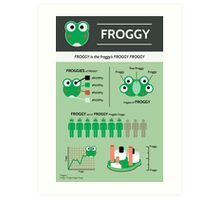 Froggy: an Infographic Art Print