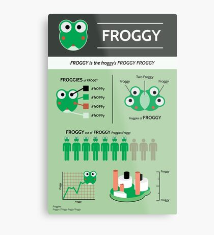 Froggy: an Infographic Metal Print