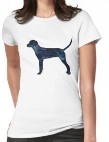 Redbone Coonhound Black Watercolor Silhouette Womens Fitted T-Shirt