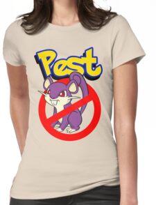 Rattata pest Womens Fitted T-Shirt