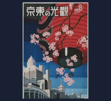 Vintage Travel Poster Tokyo Japan One Piece - Long Sleeve