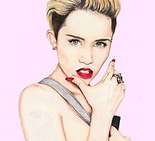 Miley Cyrus Portrait. by Emily  Smith