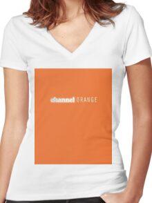 Frank Ocean Channel Orange  Women's Fitted V-Neck T-Shirt
