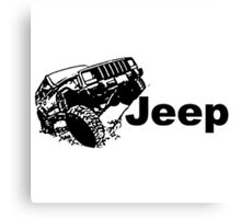 jeep 4wd offroad Canvas Print