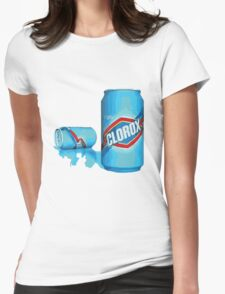 enjoy clorox can Womens Fitted T-Shirt