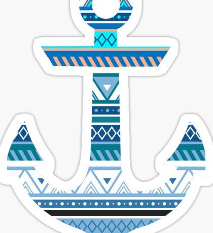Aztec Anchor Sticker