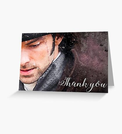 Hushed 'Thank You' cards Greeting Card