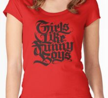 Girls Like Funny Boys Women's Fitted Scoop T-Shirt