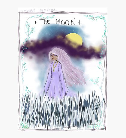 Tarot Card The Moon Goddess Photographic Print