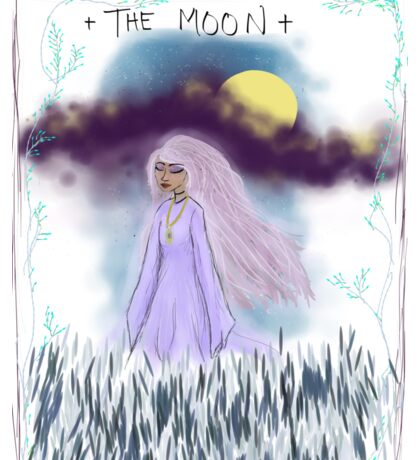 Tarot Card The Moon Goddess Sticker