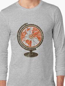 Global Cyclist (orange) Long Sleeve T-Shirt