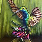 Hummingbird Painting  by careball