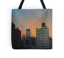 Double Rainbow Bridge Tote Bag