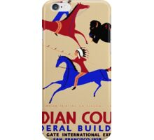 Vintage poster - Indian Court Federal Building iPhone Case/Skin