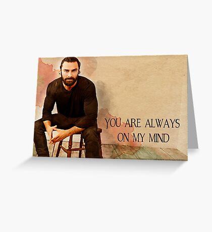 Gentleman in repose 'Always on my mind' Cards Greeting Card
