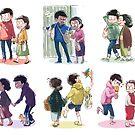 Osomatsu - Shopping with mom by banafria