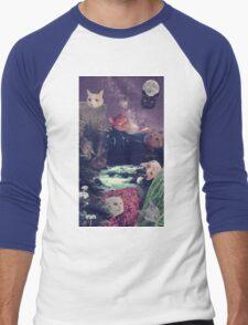cat surprise Men's Baseball ¾ T-Shirt
