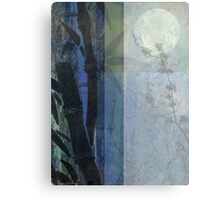 Bamboo Blossoms Blue 2 Canvas Print