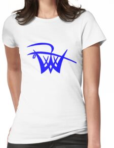 Unofficial Logo blue Womens Fitted T-Shirt