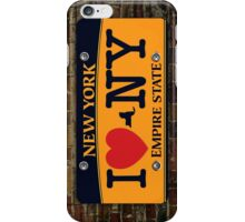 I Love NY Car Plate Prints / iPhone Case/ T-Shirt / iPad Case / Samsung Galaxy Cases  / Pillow / Tote Bag / Duvet  iPhone Case/Skin