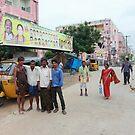 Scene at Rajiv Nganpally by Andrew  Makowiecki