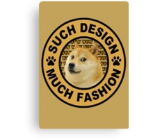 doge (such design much fashion) Canvas Print