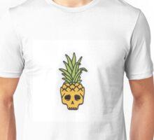 Pineapple Skull - Skateboarding. Unisex T-Shirt