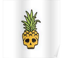 Pineapple Skull - Skateboarding. Poster