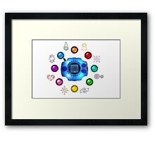 Digimon Emblems Framed Print