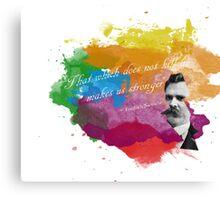Nietzsche T-Shirt Canvas Print
