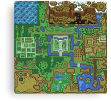 The Legend of Zelda: A Link to the Past Map Canvas Print