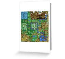 The Legend of Zelda: A Link to the Past Map Greeting Card