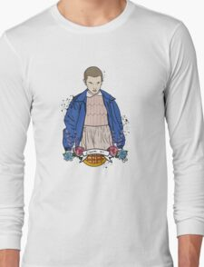 Stranger Things Eleven floral  Long Sleeve T-Shirt