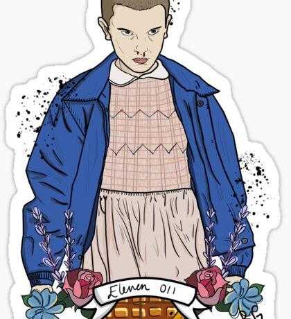 Stranger Things Eleven floral  Sticker