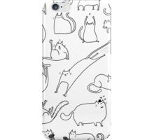 leaping kitty iPhone Case/Skin