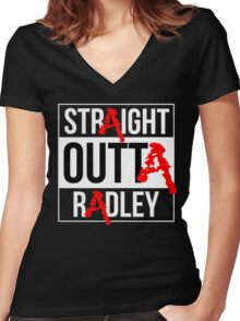 Straight Outta Radley Women's Fitted V-Neck T-Shirt