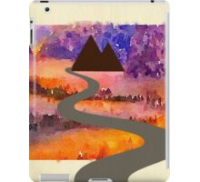 Abstract,water color,hand painted,landscape,mixed media iPad Case/Skin