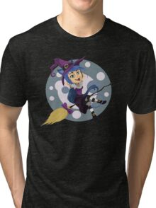 Happy Cat Witch Tri-blend T-Shirt