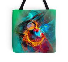 Hummingbird - Colorful Digital Fractal Abstract Art  Tote Bag