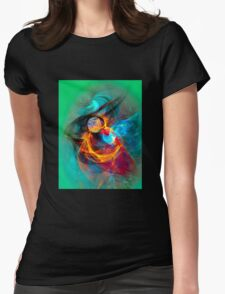 Hummingbird - Colorful Digital Fractal Abstract Art  Womens Fitted T-Shirt
